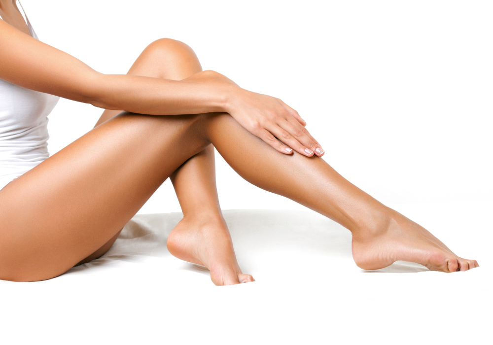 woman's legs after hair removal