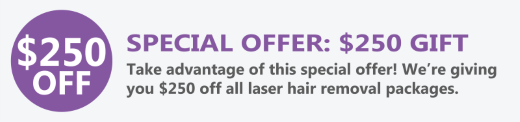 special offer for laser hair removal