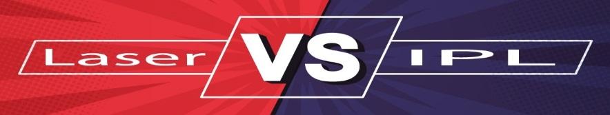Laser vs IPL hair removal banner